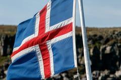 Bandeira islandêsa Imagens de Stock