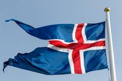 Bandeira islandêsa estilizado Imagens de Stock
