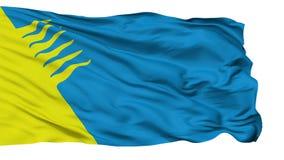 Bandeira isolada da cidade de Kohtla Jarve, Estônia video estoque