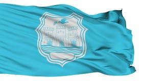 Bandeira isolada da cidade de Novi Sad, Sérvia ilustração do vetor