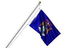 Bandeira isolada de Michigan Foto de Stock