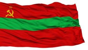 Bandeira isolada de Transnistria Fotos de Stock Royalty Free