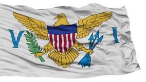 Bandeira isolada de United States Virgin Islands Foto de Stock Royalty Free