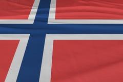 Bandeira isolada que acena, bandeira realística de Noruega de 3D Noruega rendida Imagem de Stock