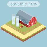 Bandeira isométrica da exploração agrícola Fotografia de Stock