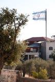 Bandeira israelita áspera Fotografia de Stock
