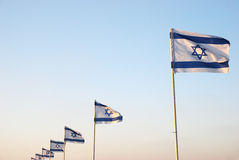 Bandeira israelita Imagens de Stock