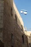 Bandeira israelita no Jerusalém Imagem de Stock