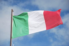 Bandeira italiana Fotos de Stock Royalty Free