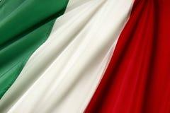 Bandeira italiana Fotografia de Stock