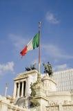 A bandeira italiana Fotografia de Stock