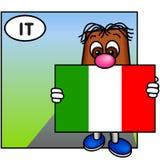 A bandeira italiana Fotos de Stock Royalty Free
