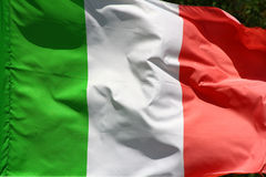 Bandeira italiana Imagens de Stock