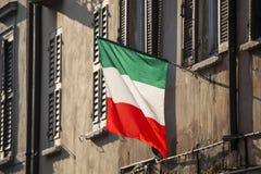 Bandeira italiana Fotos de Stock