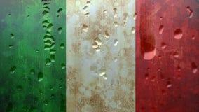 Bandeira italiana com condensação filme