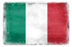 Bandeira italiana destruída 1 Foto de Stock