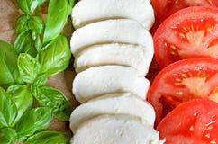 Bandeira italiana do alimento Foto de Stock Royalty Free