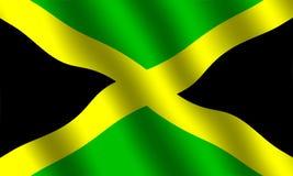 Bandeira jamaicana Fotografia de Stock