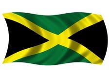 Bandeira jamaicana ilustração stock
