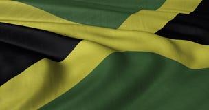 Bandeira jamaicana fotografia de stock royalty free
