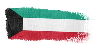 Bandeira Kuwait do Brushstroke Foto de Stock Royalty Free