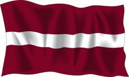 Bandeira letão Fotografia de Stock Royalty Free