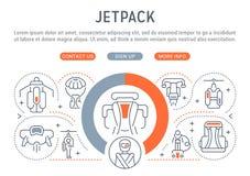 Bandeira linear de Jetpack ilustração do vetor