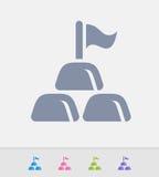 Bandeira & lingotes - ícones do granito ilustração stock