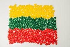 Bandeira lituana Fotografia de Stock