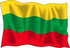 Bandeira lituana Foto de Stock Royalty Free