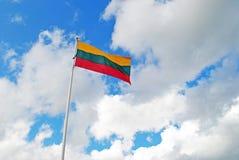 Bandeira lituana Foto de Stock