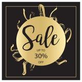 Bandeira luxuosa preta da venda do verão, cor-de-rosa e do ouro, para o cartaz do disconto, venda da forma, fundos, no vetor Fotos de Stock Royalty Free