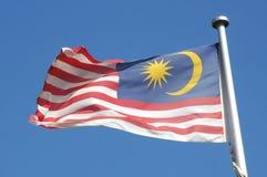 Bandeira malaia imagem de stock