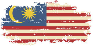 Bandeira malaia do grunge Ilustração do vetor ilustração royalty free