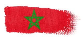 Bandeira Marrocos do Brushstroke Fotos de Stock Royalty Free