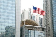 A bandeira merican Foto de Stock Royalty Free