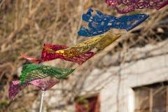 Bandeira mexicana de vibração imagens de stock