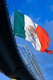 Bandeira mexicana grande 2 Imagens de Stock Royalty Free