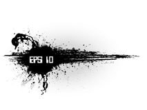 Bandeira minimalistic de Grunge no estilo preto Foto de Stock Royalty Free