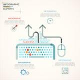 Bandeira moderna das opções do infographics ilustração stock