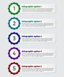 Bandeira moderna das opções do infographics do papel 3D Fotos de Stock