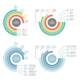 Bandeira moderna das opções do negócio, círculo Imagens de Stock