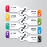 Bandeira moderna das opções do projeto do infographics Ilustração do vetor Foto de Stock