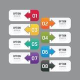Bandeira moderna das opções do projeto do infographics Ilustração do vetor ilustração royalty free