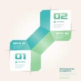 Bandeira moderna de Infographics das opções do número do estilo do origâmi Foto de Stock