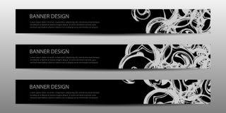 Bandeira moderna do vetor abstrato com linhas onduladas projeto futuro do molde do cartaz dos moldes do projeto do informe anual ilustração royalty free