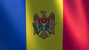 Bandeira Moldavian Bandeira de ondulação da ilustração de Moldova 3d ilustração stock