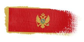 Bandeira Montenegro do Brushstroke Fotografia de Stock Royalty Free