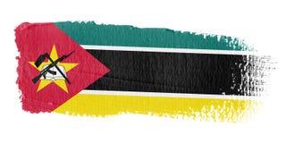 Bandeira Mozambique do Brushstroke Imagens de Stock