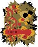 Bandeira multi-coloured de Grunge. Ilustração do vetor Imagem de Stock